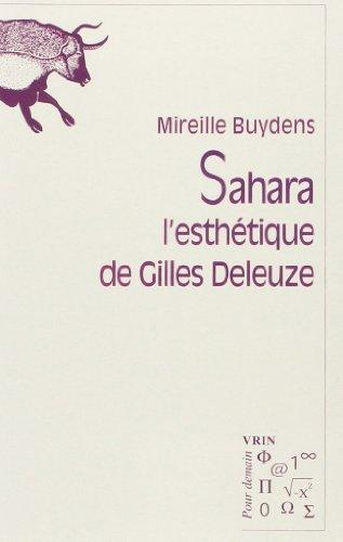 Sahara : L'esthétique de Gilles Deleuze par Mireille Buydens