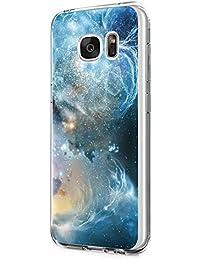 Funda Samsung Galaxy S7 Edge, TPU Silicona S6 Edge Plus Case Patrón de mármol Anti-Rasguño Bumper Protection para Galaxy S6/S7