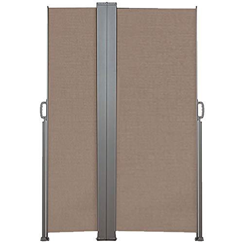 IDMarket - Paravent Double rétractable 600 x 160 cm Store Taupe latéral