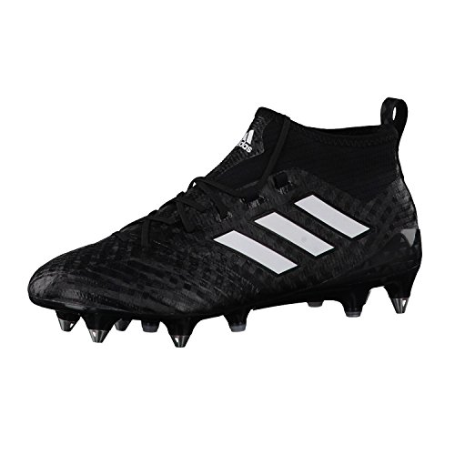 Ace 17.1 Primeknit SG Football Boots - Core Black/White/Night Metallic - size 10.5 (Adidas Elite Sock)