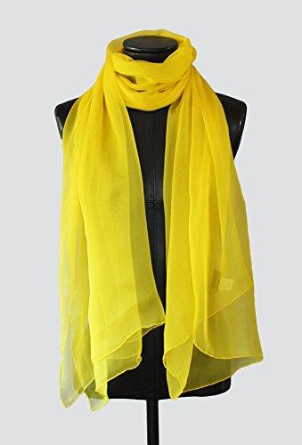 Echarpe Amarillo. Echarpe, pañuelo, bufanda, foulard de seda pintado a mano, am...