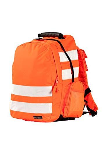 Portwest b905orr Hi-Vis Rucksack, Regular, Orange -