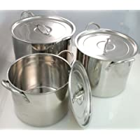 3 Piece Buckingham Deep Stock Pots (Large) RRP £30