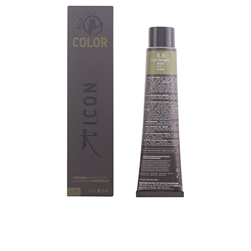 I.C.O.N. Ecotech Color Natural Color Colorazione Permanente, Unisex, 5.5 Light Mahogany Brown - 60 ml