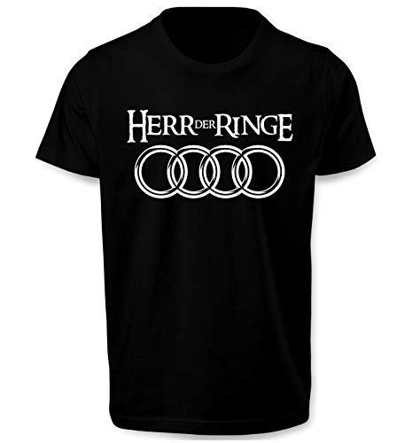 Herr Der Ringe Herren T Shirt T-Shirt Prime Quality Kurzarm (Schwarz, 2XL)