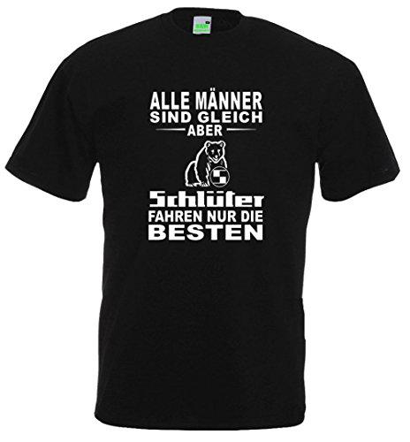Traktor T-Shirt | Die Besten fahren Schlüter | Landwirt | Bauer Schwarz