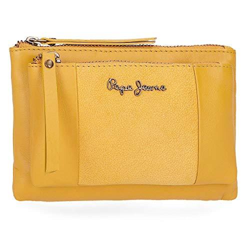Pepe Jeans Double Geldbörse 17 cm, gelb (Gelb) - ()