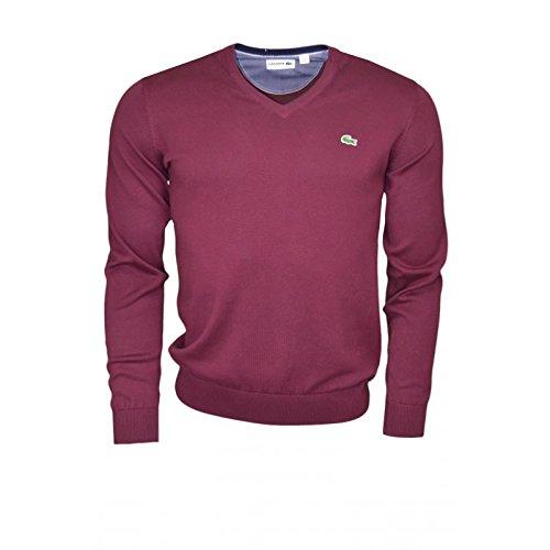 lacoste-maglione-uomo-rosso-xxxl