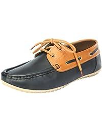 VEE Men's Faux Leather Boat Shoes