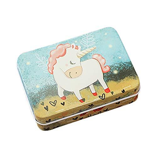 Daliuing Caja Caja de Dulces de Boda Lindo Unicornio Caja de Hierro Decoracion