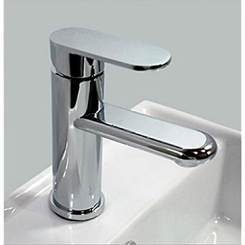 Furesnts casa moderna cocina y grifos de lavabo del baño caliente y frío elipse mixtos solo agujero Lavabo grifos,(Estándar G 1/2 puertos manguera