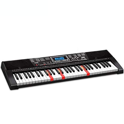 Elektronisches Klavierspielzeug, professionelle Multifunktionstastatur for Erwachsene Kinder mit 61 Tasten, mit Mikrofon-Piano-Ständer-Netzkabel - 12 Computer-netzkabel