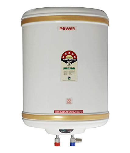 PowerPye 15lts Jupiter Glasslined Geyser White With 5 Star Ratings