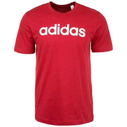 adidas Performance Essentials Linear Logo Trainingsshirt Herren dunkelrot, XXL (60/62 EU) -