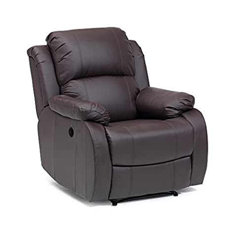 Leather Clifton Electric Recliner in (Brown)