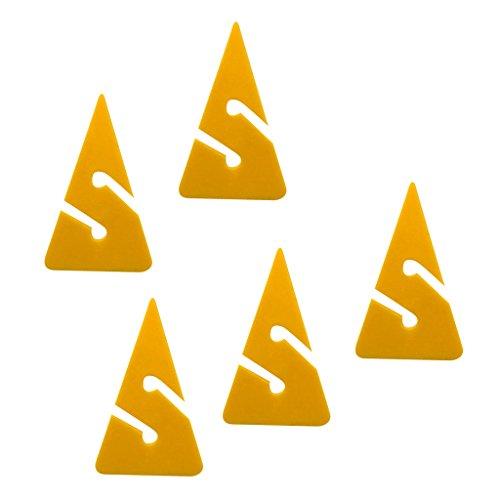 5 Stück Dreieck Dive Line Marker Für Tauchen Sport - Gelb