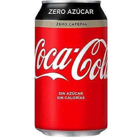 Coca Cola Zero Zero Sin Cafe na Lata 330 ml pack de 12