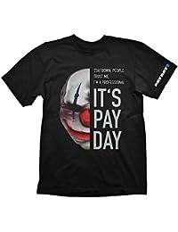 T-shirt sur le thème du jeu Payday 2 masque Chains coton noir