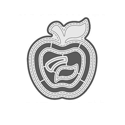 Troqueles de corte de metal de manzana para álbumes de recortes, manualidades, álbum 2019, plantilla para repujado, decoración de tarjetas, troqueles de corte, Estados Unidos