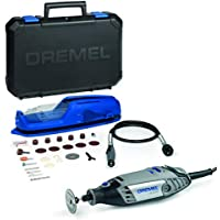 Dremel 3000 Rotary Tool and Multi-Tool Kit with 1 Attachment 25 Accessories, Variable Speed 10000-33000rpm for Cutting, Sanding, Drilling, Polishing, Carving, Sharpening, Engraving, Cleaning, 130 W