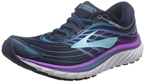 Brooks Glycerin 15, Scarpe da Ginnastica Donna, Blu (Eveningblue/Purplecactusflower), 38.5 EU