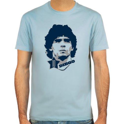 SpielRaum T-Shirt Diego Armando Maradona ::: Farbauswahl: skyblue, sand oder weiß ::: Größen: S-XXL ::: Fußball-Kult Sand