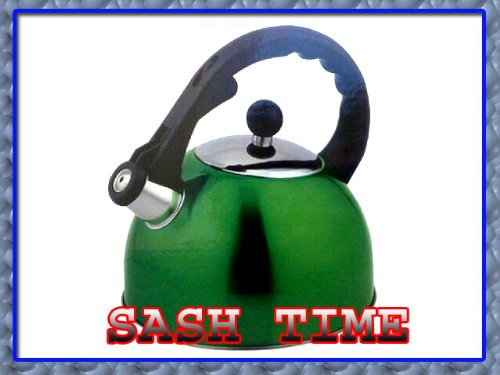 Prima - 2,5 litros de acero inoxidable hervidor de agua verde 11123C
