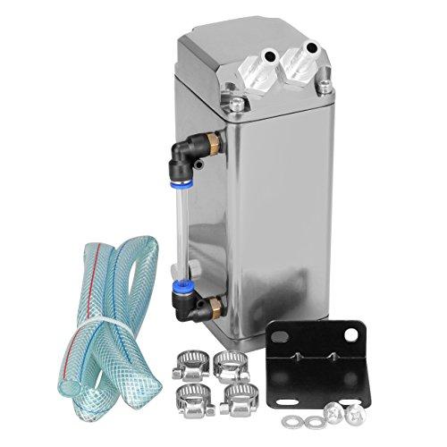 Ambienceo Serbatoio di sfiato per serbatoio d'olio universale Kit tanica per serbatoio d'argento Motore quadrato in alluminio
