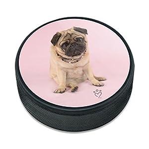 Grafiken und Mehr Mops Puppy Dog Sitting Rosa Halskette Eishockey Puck