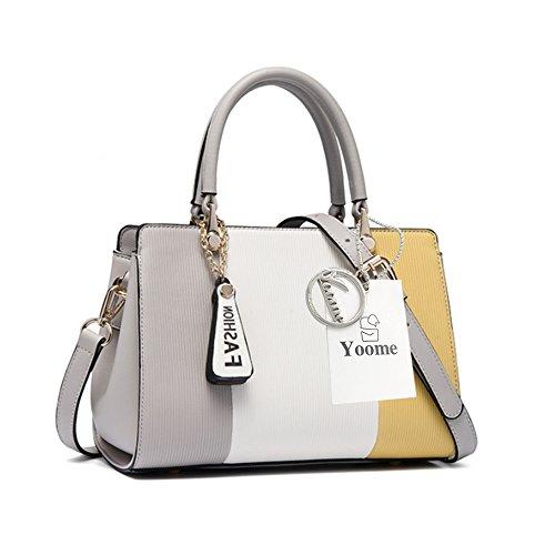 Borse a tracolla Yoome Contrast Colore Crocifisso Borse a tracolla in ottone Tote Ladies Purses Satchel Bags For Girls - P.W.Grey Y.W.Grey
