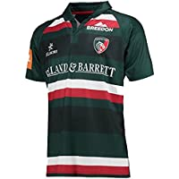 2017-2018 Leicester Tigers Home Rugby Football Soccer T-Shirt Trikot (Kids)