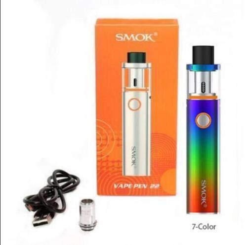 Authentic SMOK Vape Pen 22 Kit mit 1650 mAh-Akku, 0,3 Ohm, Dual Core, 2 ml, Regenbogen (Vape Pen Starter Kit)