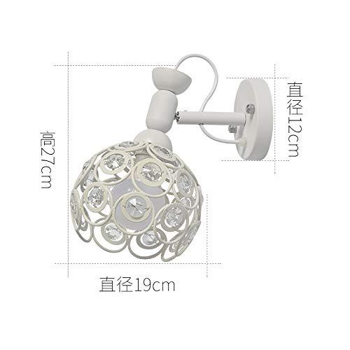 Una lámpara de pared de base blanca + pantalla blanca con bombilla LED monocromática de 9 vatios de luz blanca