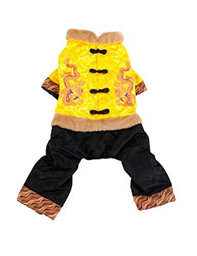 (Zhhyltt Haustier Kleider Jacke Warm Winter Mantel - Haustier Hund ist Kleider Chinesisch Stil Tang Anzug Haustier Mantel Bekleidung für Mittlerer und Großer Hund)