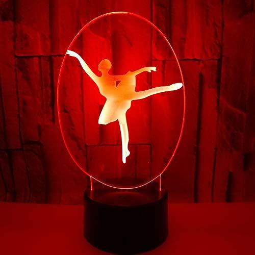 YWYU 3D nachtlicht led Illusion Lampe 7 Farben allmählich ändern Ballett virtuelle licht USB Touch Switch dekorative nachttischlampe Fernbedienung for Jungen mädchen Toys Geschenke
