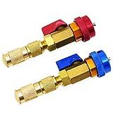 Hseamall 2PCS aria condizionata R134A valvola Core strumento di rimozione e installazione rapida alta a bassa pressione auto auto aria condizionata R134A attrezzo di riparazione accessori blu e rosso
