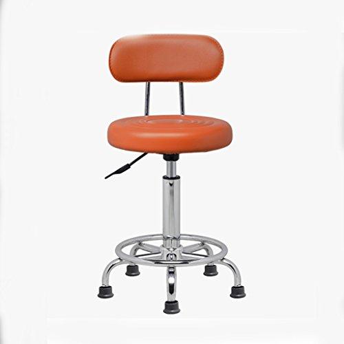 Klappstuhl Barhocker / Barhocker Lifting Stuhl / Friseur Friseur Make-up Stuhl / Stuhl / Labor Drehstuhl ( Farbe : Orange , größe : Fixed wheel )