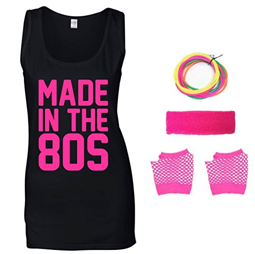 Made In The 80s Ladies Vest & Accessories - Sizes 8 to 16