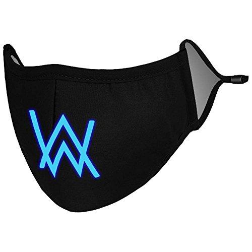Alan Gaze Maske DJ Cosplay Kostüm Baumwolle Warm Staubdicht Masken für Erwachsene Zubehör (Blau) -
