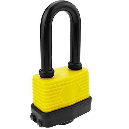 PrimeMatik - Candado de Seguridad Acero con protección Exterior IP44 50mm