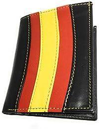 ce72ab7b195 Cartera Porta Placa Vigilante De Seguridad - De Diseño Bandera España en  Piel De Ubrique de