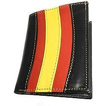 Cartera Porta Placa Vigilante De Seguridad - De Diseño Bandera España en Piel De Ubrique de