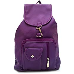 Vintage Stylish Girls School bag College Bag (In Four Colors)(bag r 124) (Purple)