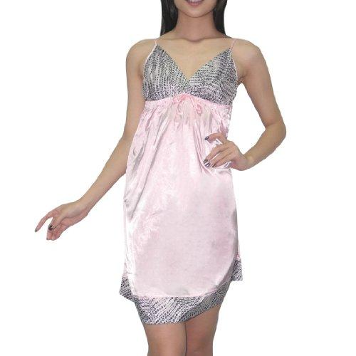 Silk Couture Damen Sexy Wunderschöne Nachtwäsche Kleid / Nightgown S-M Pink (Nachtwäsche Couture)