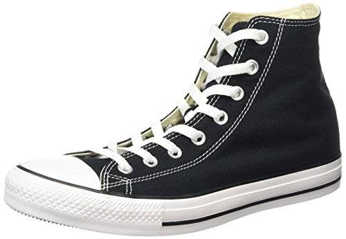 Converse All Star Hi Canvas Sneaker, Unisex Adulto, Nero (M9160 Schwarz), 38