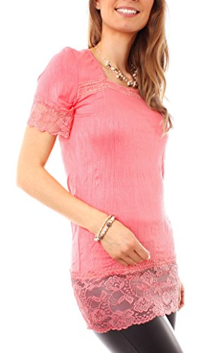 Easy Young Fashion - T-shirt - Femme Orange - Pêche