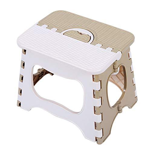 XBZDY Kunststoff Klapphocker, Angeln Hocker Verdickung Stuhl Tragbare Tragbare Kleine Bank Mazar Schuh Bank Niedriger Hocker Quadratischer Hocker (Farbe : Beige, größe : 23 × 18 × 20cm)
