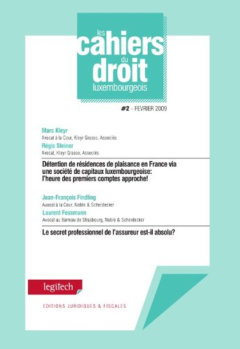 Cahier du droit luxembourgeois n°2
