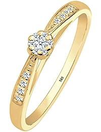 Diamore Damen Stapelring 585 Gelbgold Diamant 0,16 ct