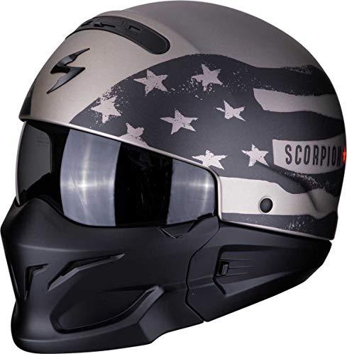 SCORPION Casque moto EXO-COMBAT ROOKIE Titanium-Grey, Titanium, XL